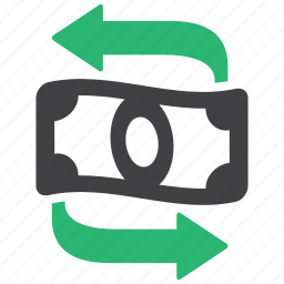 cash, flow, money, transfer icon