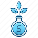 finance, funds, growth, investments icon