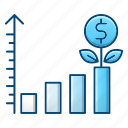 chart, currency, finance, growth, investment icon