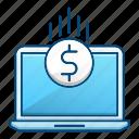 computer, finance, flow, money, online icon