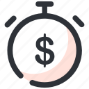 chronometer, finance chronometer, timekeeper, timepiece, timer icon