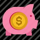 finance, invest, money, pig, safe, save icon