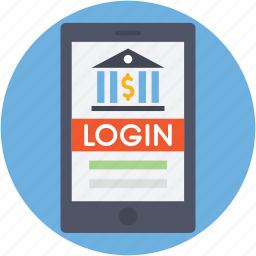 banking app, banking app login, m commerce, mobile banking icon
