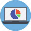 online analytics, online graph, online infographics, pie chart, web analytics icon