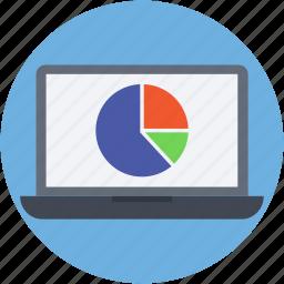 online analytics, online graph, online infographics, pie chart, web analytics icon