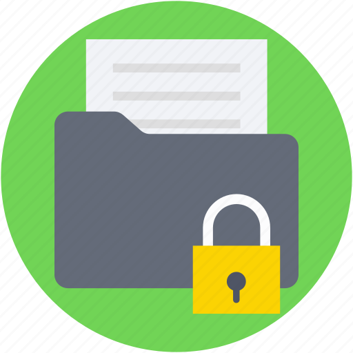 decomants, lock, locked folder, padlock, secure folder icon