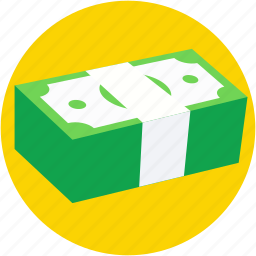banknotes, currency notes, currency stack, paper money, paper notes icon