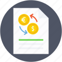 currency exchange, dollar, exchange report, money exchange, pound icon