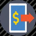 economy, financial, money transfer, online banking, online transfer icon