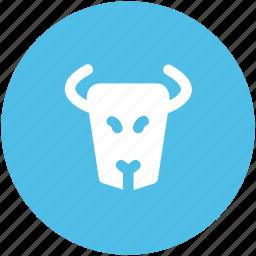 animal, bull, bull head, business, forex trading, trading icon