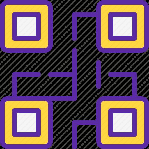 code, finance, market, marketing, money, qr, sales icon