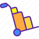 cash, finance, market, marketing, money, sales, trolley icon