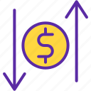 cash, finance, market, marketing, money, sales, value icon