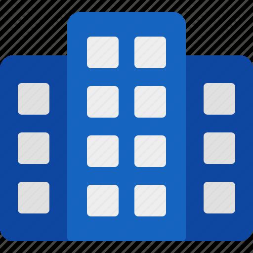 buildings, cash, finance, market, marketing, money, sales icon