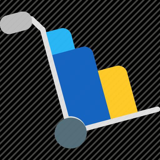 cash, finance, market, marketing, money, sales, trolley icon