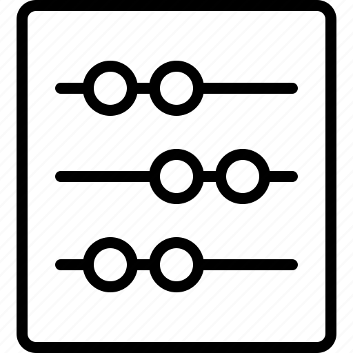 abacus, cash, finance, market, marketing, money, sales icon