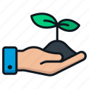 business, development, financial, growth, plant icon