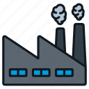 building, energy, factory, industry, smoke icon