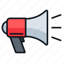 advertising, marketing, megaphone, promotion, sales icon