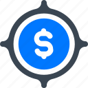 money, profit, target icon