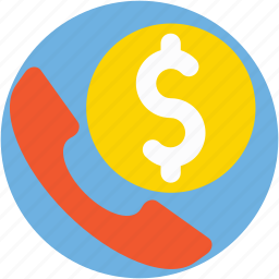 customer service, finance support, phone banking, phone receiver, receiver icon