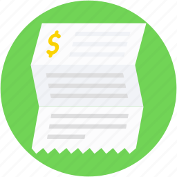 account, account statement, asset, bank statement, financial paper icon