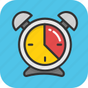 alarm, clock, deadline, schedule, timepiece icon