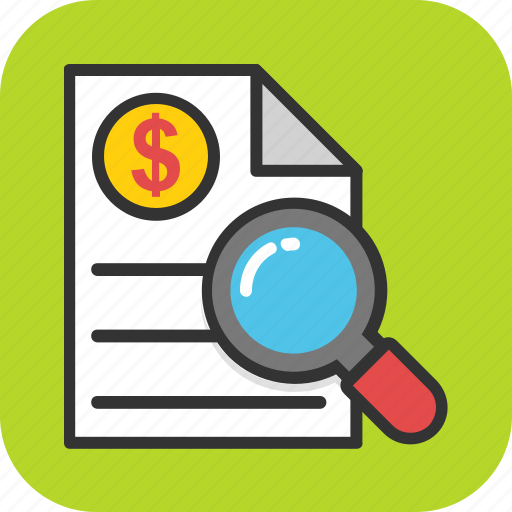 bill, financial document, invoice, receipt, tax transparency icon