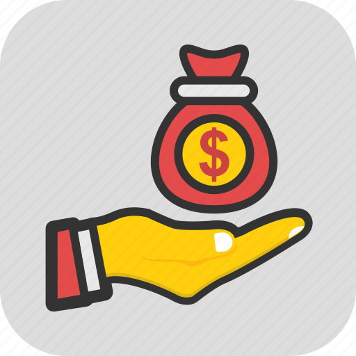 cash, funds, investment, money sack, savings icon