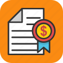 common share, government bonds, market invest, share certificate, stock certificate icon