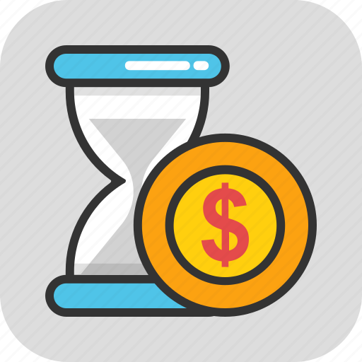 marketing strategy, profit, savings, superannuation, time is money icon