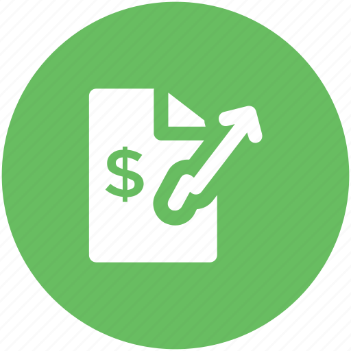 business analysis, business report, finance report, financial document, statistics icon