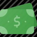 bill, cash, dollar, money, stack