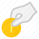 care, coin, donate, financial, hand icon