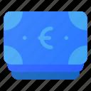 bill, cash, euro, finance, money, stack