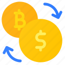 curency, crypro, bitcoin, exchange icon