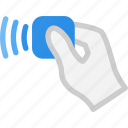 card, contact, finance, less, payment, paypass icon
