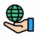 care, global, hand, protection, safety icon
