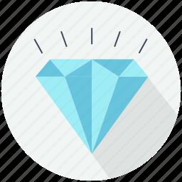 crystal, diamond jewel, diamonds, finance and business, jewelry, precious, shapes icon