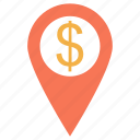 finance and business, location, locator, maps, maps and flags, pin, pins, point, shape, tool icon