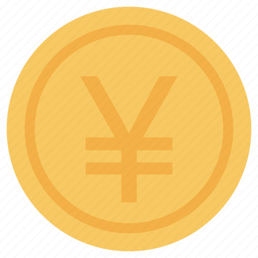 coins, commerce, currency, finances, money, stack, stacked, values, yens icon