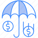 insurance, money, shield, signing icon