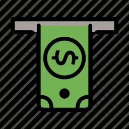 atm, bank, cash, dollar, money icon