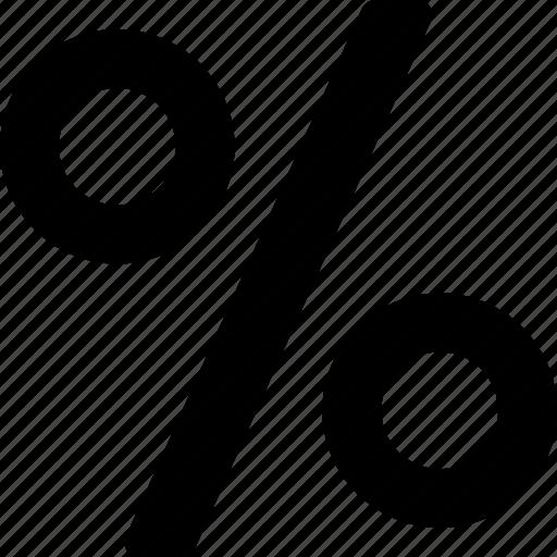 finance, formula, math, percent, percentage icon