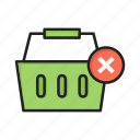 basket, cancel, cart, checkout, close, delete, shopping icon