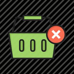 basket, cancel, cart, checkout, close, delete, shopping icon