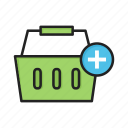add, basket, cart, plus, shopping icon