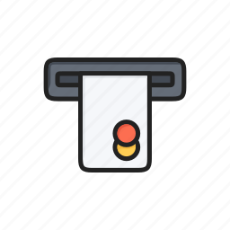 atm, bank, cash, credit card, money, payment icon