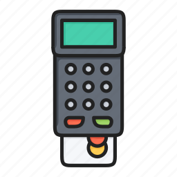 bill, card, check, credit, credit card, payment, terminal icon