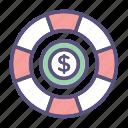 dollar, finance, money icon